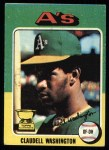 1975 Topps #647  Claudell Washington  Front Thumbnail