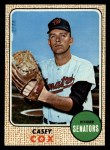 1968 Topps #66 WT Casey Cox  Front Thumbnail