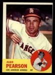 1963 Topps #182  Albie Pearson  Front Thumbnail