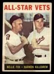 1964 Topps #81  All-Star Vets  -  Nellie Fox / Harmon Killebrew Front Thumbnail
