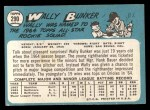 1965 Topps #290   Wally Bunker Back Thumbnail