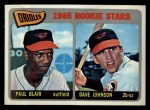 1965 Topps #473   Orioles Rookie Stars  -  Paul Blair / Davey Johnson Front Thumbnail