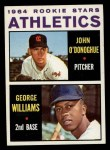 1964 Topps #388  Athletics Rookies  -  George Williams / John O'Donghue Front Thumbnail