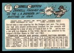 1965 Topps #112  Derrell Griffith  Back Thumbnail