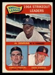 1965 Topps #11  AL Strikeout Leaders  -  Dean Chance / Al Downing / Camilo Pascual Front Thumbnail