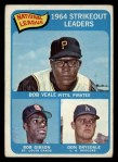 1965 Topps #12  NL Strikeout Leaders  -  Don Drysdale / Bob Gibson / Bob Veale Front Thumbnail