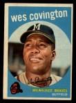 1959 Topps #290  Wes Covington  Front Thumbnail