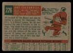 1959 Topps #226   Art Ceccarelli Back Thumbnail