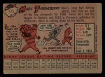 1958 Topps #175   Marv Throneberry Back Thumbnail