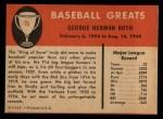 1961 Fleer #75   Babe Ruth Back Thumbnail