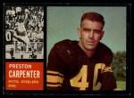 1962 Topps #131   Preston Carpenter Front Thumbnail