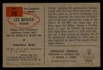 1954 Bowman #78   Les Richter Back Thumbnail
