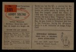 1954 Bowman #101  Gordon Soltau  Back Thumbnail
