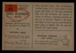 1954 Bowman #95   Jerry Hilgenberg Back Thumbnail