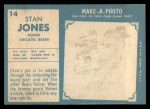 1961 Topps #14   Stan Jones Back Thumbnail