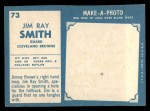1961 Topps #73   Jim Ray Smith Back Thumbnail