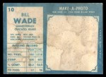 1961 Topps #10   Bill Wade Back Thumbnail