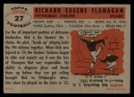 1956 Topps #27   Dick Flanagan Back Thumbnail