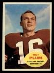 1960 Topps #22  Milt Plum  Front Thumbnail
