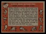 1958 Topps #418  World Series Batting Foes    -  Mickey Mantle / Hank Aaron Back Thumbnail
