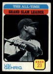 1973 Topps #472  All-Time Grand Slam Leader  -  Lou Gehrig Front Thumbnail