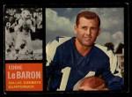 1962 Topps #38  Eddie LeBaron  Front Thumbnail
