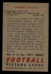 1951 Bowman #9  Barney Poole  Back Thumbnail