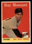 1958 Topps #447   Ray Monzant Front Thumbnail