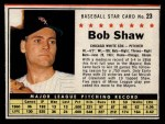 1961 Post Cereal #23 BOX  Bob Shaw Front Thumbnail
