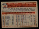 1957 Topps #31   Ron Northey Back Thumbnail