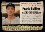 1961 Post Cereal #41 BOX Frank Bolling   Front Thumbnail