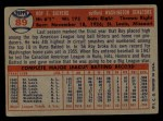 1957 Topps #89   Roy Sievers Back Thumbnail