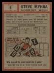 1962 Topps #6   Steve Myhra Back Thumbnail