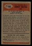 1955 Bowman #66   Gordy Soltau Back Thumbnail