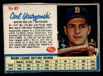 1962 Post Cereal #61   Carl Yastrzemski  Front Thumbnail