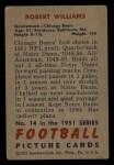 1951 Bowman #14  Robert Williams  Back Thumbnail