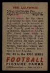 1951 Bowman #33   Verl Lillywhite Back Thumbnail