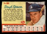 1962 Post Cereal #103   Daryl Spencer  Front Thumbnail