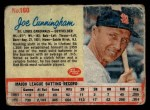 1962 Post Cereal #160   Joe Cunningham  Front Thumbnail
