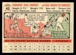 1956 Topps #42   Sandy Amoros Back Thumbnail