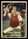 1957 Topps #91   Mack Burk Front Thumbnail