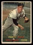 1957 Topps #168   Frank Lary Front Thumbnail