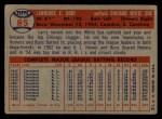 1957 Topps #85  Larry Doby  Back Thumbnail