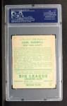1934 Goudey #12   Carl Hubbell Back Thumbnail