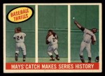 1959 Topps #464   -  Willie Mays Mays' Catch Makes Series History Front Thumbnail