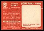 1958 Topps #120  Raymond Berry  Back Thumbnail