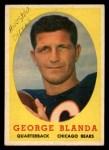 1958 Topps #129  George Blanda  Front Thumbnail