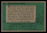 1956 Topps Davy Crockett #13 GRN  Sharpshooting  Back Thumbnail
