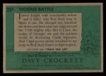 1956 Topps Davy Crockett #29 GRN  Vicious Battle  Back Thumbnail