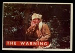 1956 Topps Davy Crockett #9 GRN The Warning   Front Thumbnail